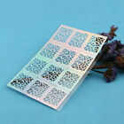 Women Nail Art Manicure 12Tips/Sheet Stencil Stickers Nails Stamping Vinyls DIY