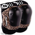 "SMITH ""Scabs"" Elite Knee Pads Skateboard Roller Derby S/M Brown Leopard SALE"