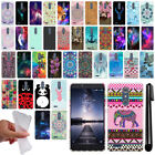 For ZTE Zmax Pro Carry Z981 Cute Design TPU SILICONE Soft Case Phone Cover + Pen