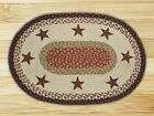 Barn Stars Oval Braided Jute Placemat, #48-019BS