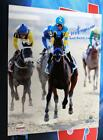 VICTOR ESPINOZA SIGNED AMERICAN PHAROAH WINNING CELEBRATION BELMONT STAKES