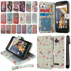 For Coolpad Catalyst 3622A Flip Wallet LEATHER Skin POUCH Case Phone Cover + Pen