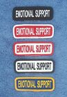 1 EMOTIONAL SUPPORT PATCH 1X3 inch Danny & LuAnns Embroidery