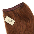 100% Remy Human Hair Handmade Halo Invisible Wire Hair Extension Hair On A Wire