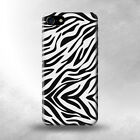 S3056 Zebra Skin Texture Graphic Printed Case For IPHONE 7 7+ 6 5 SE