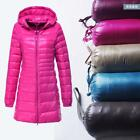 New Fashion Winter Women Down cotton Long Coat Hooded Down Jacket Ladies Parka