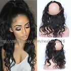 8A 100% Indian Remy Human Hair 360 Lace Frontal Closure Body Wave Pre Plucked