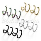 Stainless Steel Non-piercing Fake Nose Ring Clip-on Cartilage Earring Ear Clips