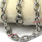 Mens Boys 6mm Laser 316L Stainless Steel Clasp O Chain Chain Necklace