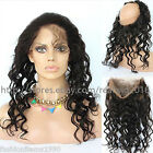 8A 100% Indian Remy Human Hair 360 Lace Frontal Closure Loose Wave Pre Plucked