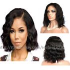Short BOB Wavy100%Indian Remy Human Hair Lace Wigs Glueless Full Lace/Lace Front