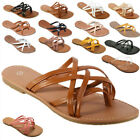 New Women Gladiator Sandals Shoes Thong Flops Flip Flat Size  Slipper Shoes