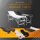 Massage Table Bed Chair Portable Aluminium Wooden 2/3/4 Fold Therapy 60~70cm(W)