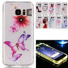 3D Bling Clear TPU Diamond Case Light Up Incoming Call For Samsung Galaxy S7 J5