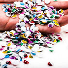 100PCS x Moveable 8mm Color Wiggly Eyelashes Googly Eye Scrapbooking SPE R0470