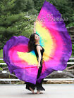 1 pair 2.7m*1.14m detachable 8mm habotai silk belly dance wing=2pcs double veils
