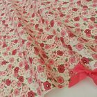 Alice pink floral 100% cotton fabric  per fat quarter / half metre for craft