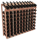 8 Bottle High Wine Cellar Display Top Kits in Redwood. Choose 1-10 Columns Wide! photo