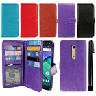 For Motorola Moto X Style XT1575 Magnetic Card Holder Wallet Cover Case + Pen