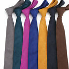 9 Color Wedding Party Tie Mens Solid Plain Neck Tie Cotton Blend 6 Cm Skinny Tie