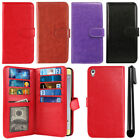 "For Sony Xperia XA Ultra 6"" Flip Magnetic Card Holder Wallet Cover Case + Pen"
