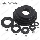 50 / 100pcs M3 M4 Black Plastic Nylon Flat Washers
