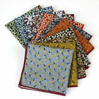 23CM Men's Cotton Handkerchief Print Flower Hankies Wedding Party Pocket Square