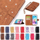 New! Card Holder Leather Flip Wallet Case Cover Stand Floral For Samsung Galaxy
