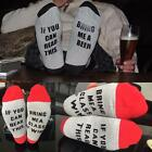 Unisex*If You Can Read This Bring Me a Beer Sock*Women's Men's Custom Wine Socks