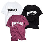 Mens Thrasher Skateboard Magazine T-shirt Tee Tops Hip-hop Short Sleeve Tshirt