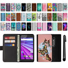 For Motorola Moto G 2015 3rd Gen Magnetic Wallet Leather POUCH Case Cover + Pen