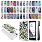 For LG Volt 2 LS751 Magna H502G G4C Mini H525N Bling HYBRID Case Cover + Pen
