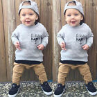 New Set Kids Baby Boy Long Sleeve T-shirt Tops+Long Pants 2pcs Outfits Clothing