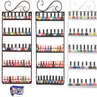5 Tier Metal Wire Nail Polish Display Wall Rack Makeup Organizer Stand Holder US