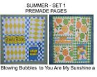 """""""SUMMER"""" -SET 1 - Premade Page 12x12-Choose One-Just Add Pics!"""