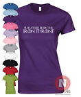 I'd rather be on the Iron Throne Game of thrones funny t-shirt female fitted