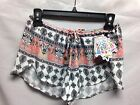 Becca by Rebecca Virtue Belly Dancer Cover Up Shorts 7249671 Multi NWT