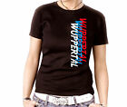 Damen Shirt Top Tee tattoo Meine Stadt Fun Ultras Pyro Fastival Wuppertal