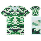 Camouflage Cycling Jerseys Round Top T-Shirt Quick-Drying Sports Tops Tee