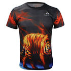 Tiger Sports Cycling Jersey 3D T-Shirt Round Top Tops Tee Quick-Dry