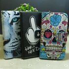 Cool Skull Tiger Nice Day Wallet Pouch Stander flip case cover For Alcatel Phone