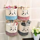 Creative Life Cartoon Small Storage Sack Cloth Hanging Cotton Storage Basket Bag
