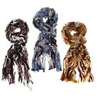 Equilibrium Textured Multi Colour Warm Wool Scarf  Black, Blue, Brown
