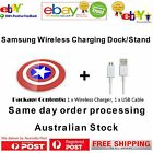 Samsung Galaxy NEW Qi Wireless Pad Charger Captain America S7 NOTE5 OEM S6 Edge