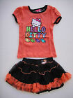 new HELLO KITTY GIRLS SUMMER 2 PCS OUTFIT SETS TOPS + SKIRT SIZE 4 & 6