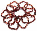 Wholesale Lot of 10 Genuine Baltic Amber Round Beads Baby Anklet Bracelet Cherry