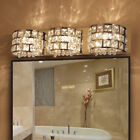 Polished Chrome Clear Crystal Pendant LED Bath Vanity Wall Light Stainless Steel