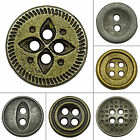 DIY Round Metal Buttons Sewing Accessories Wholesale Crafting Pack Of 140 Pcs