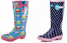 Ladies Womens Girls  VW Camper Van Pink Spot Adjustable Wellies Wellington Boots