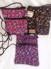Woven Shoulder Bag Pouch Money Bag 3 Colours to choose from Purple Pink Black